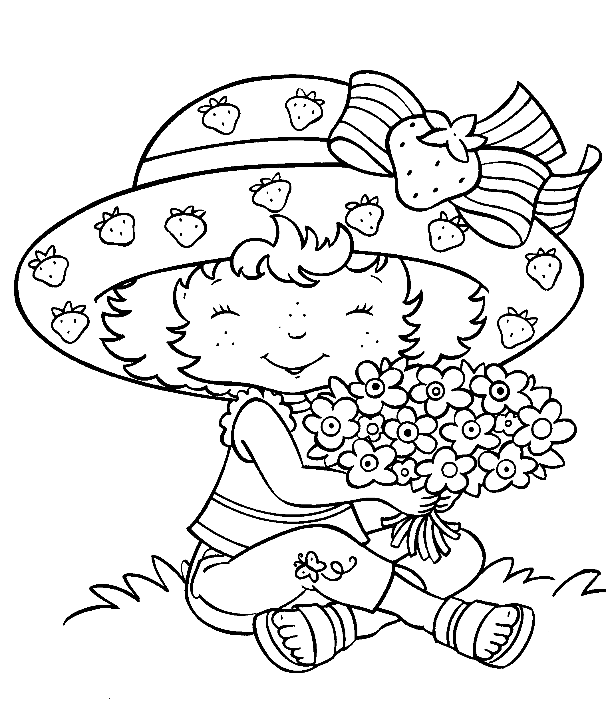 download strawberry shortcake coloring pages - Free Coloring Pictures To Print