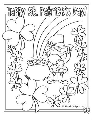 St Patricks Day Printable Coloring Activity Sheets Coloring