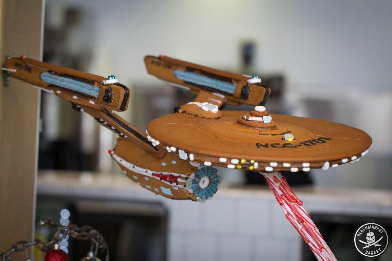 Gingerbread Star Trek USS Enterprise