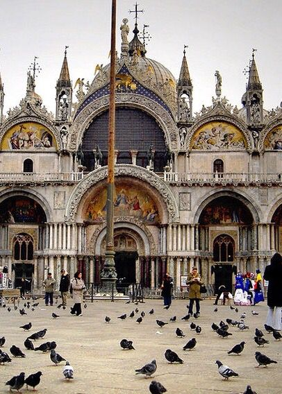 9. Saint Mark's Basilica, Venice, Italy – The most famous of Venice's churches and one of the best known examples of Byzantine architecture. It is one of the icons of the city and the destination of every tourist in Venice. It was constructed in 1650