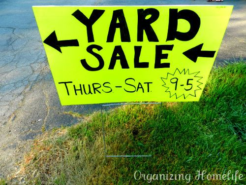 17 Best images about yard sale signs/tips on Pinterest ...