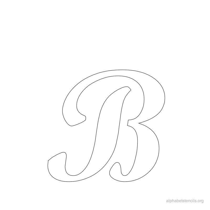 Print Free Alphabet Stencils Cursive B Craft Ideas Alphabet