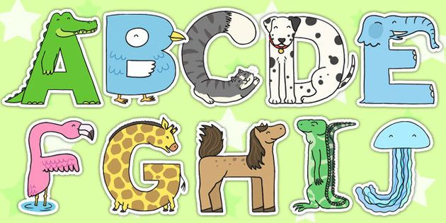 These Brilliant Display Letters Are Made From Animals A Cute Bright Display You Can Use In Your Clas Alphabet Display Animal Alphabet Letters Animal Alphabet
