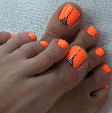43 trendy nails design summer neon toenails nails with