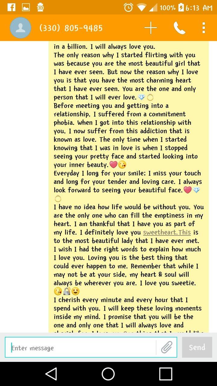 text to my boyfriend i love you