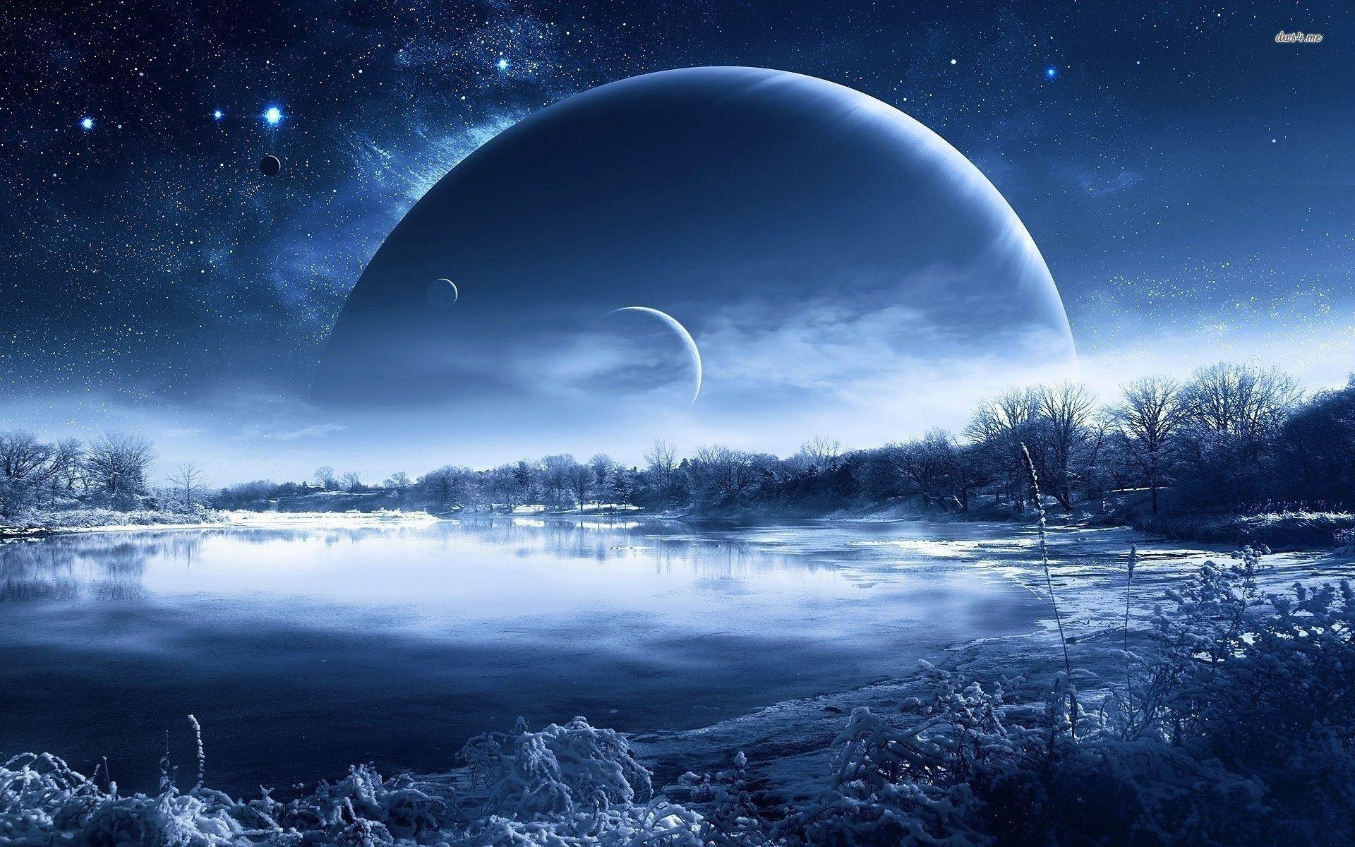 Icy landscape Space Pinterest