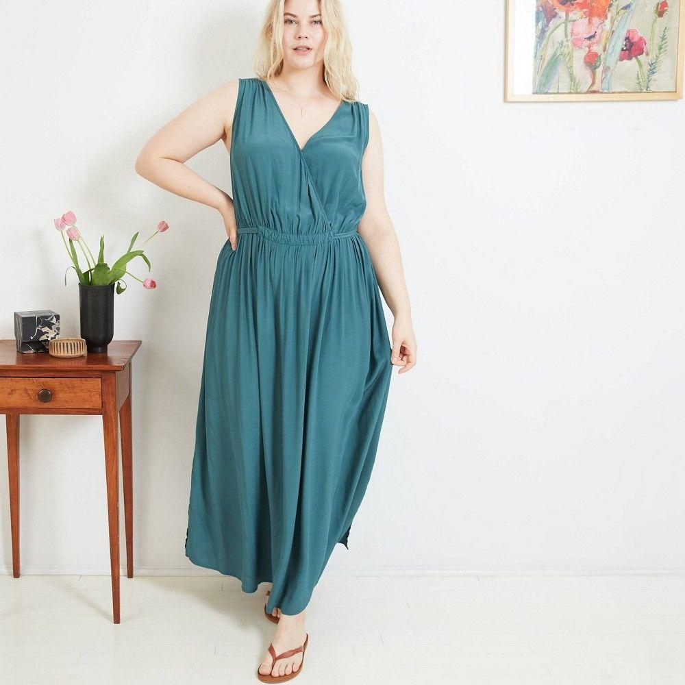 Women S Plus Size Sleeveless Maxi Dress Ava Viv Green 3x Maxi Dress Womens Tank Dress Dresses [ 1000 x 1000 Pixel ]