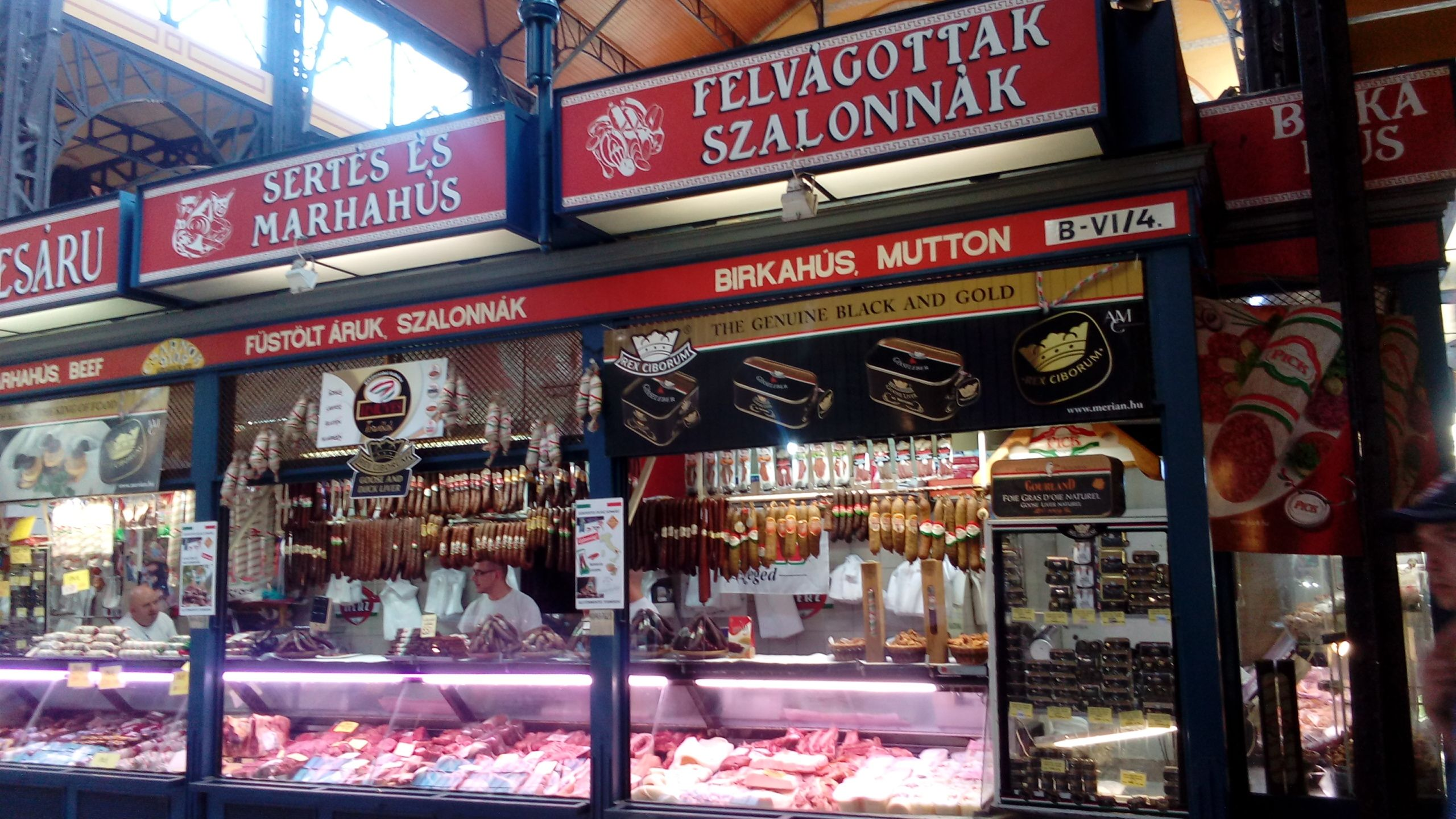 central market in budapest  english to russian health