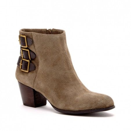 Women's Army Fudge Suede 2 1/8 Inch Buckled Bootie | Terilyn by Sole Society - 9.5 (Army Fudge)