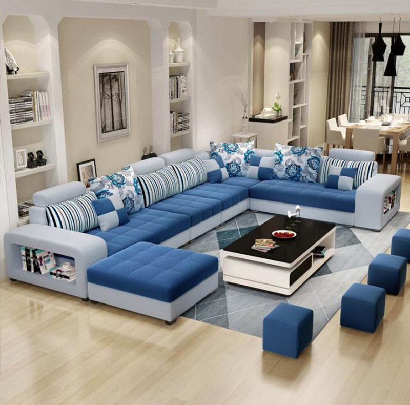 Bellagio Modern U Shape Large Fabric Couch Corner Sofa Set Living Room Furniture Colour Selection Living Room Color Schemes Living Room Color Couch Fabric