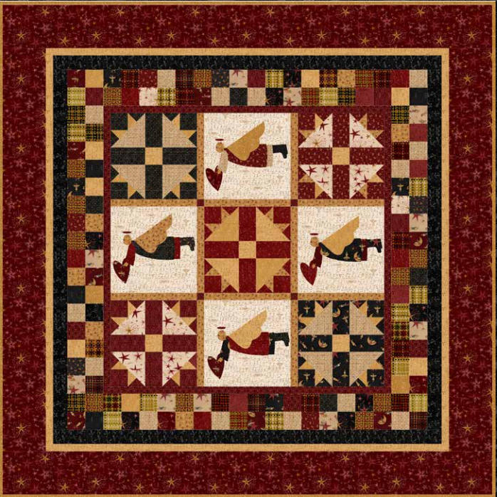 Angels Among Us - Free Quilt Pattern by The Buggy Barn. Finished ... : free buggy barn quilt patterns - Adamdwight.com