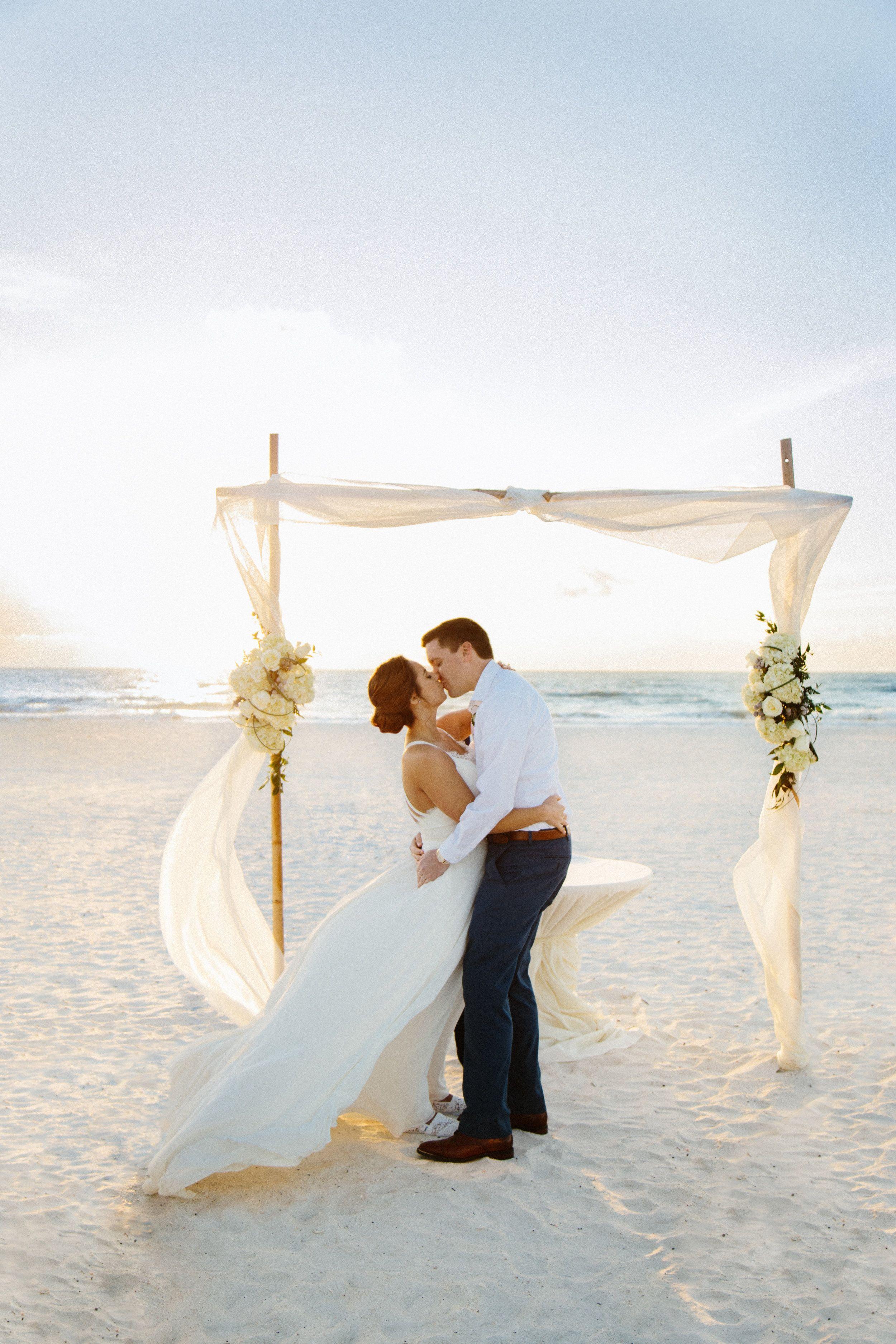 Marco Island Beach Elopement Sunset Beach Weddings Florida