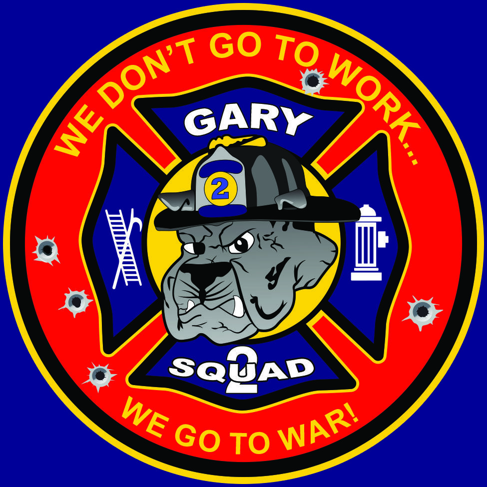 gary indiana fire department vectorized patch for screen print