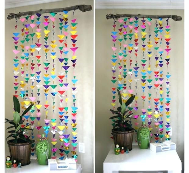 Hanging Decoration Ideas Craft Ideas For Decorating A Bedroom Photos And Video In Hanging Paper Wall Decor Diy Wall Decor For Bedroom Homemade Wall Decorations