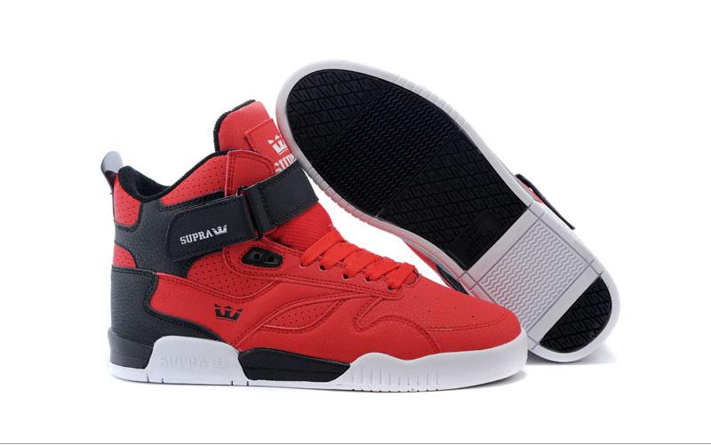 brand new 67992 d73da Mens Supra Bleeker Red Black White Trainers Shoes
