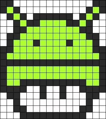 Android Mushroom Perler Bead Pattern Pixel Art Pattern Pixel