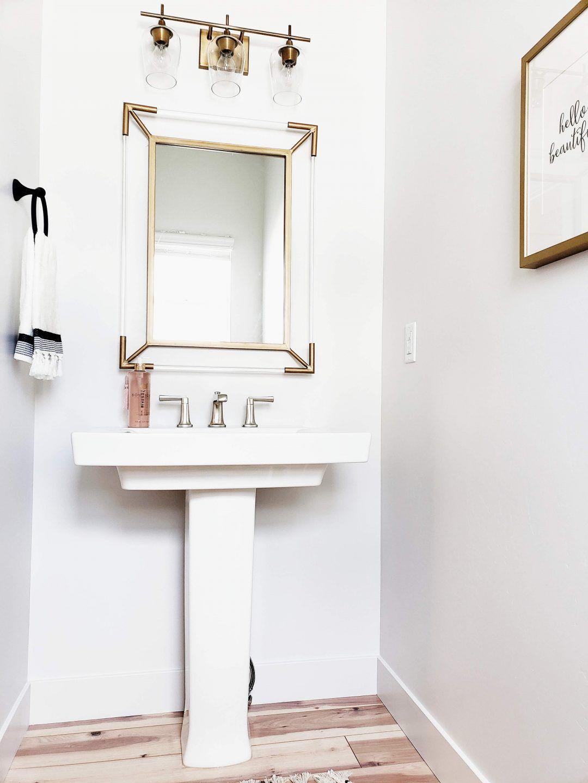 Half Bathroom Update With Images Trendy Bathroom Half