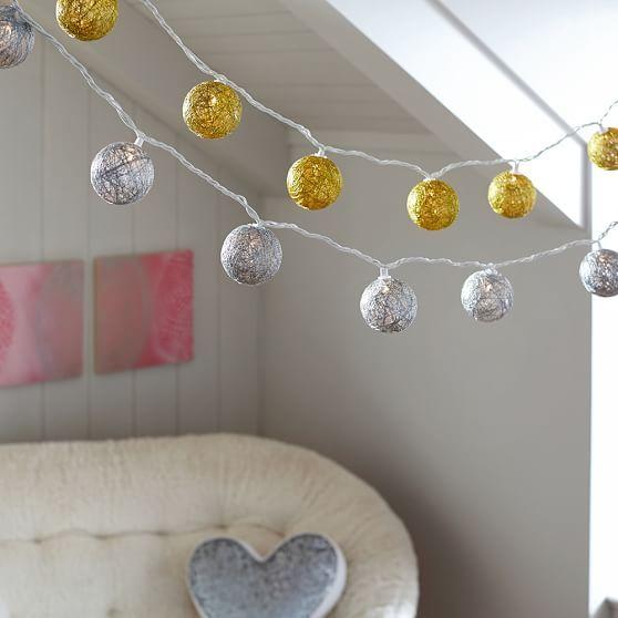 Woven Ball String Lights | PBteen