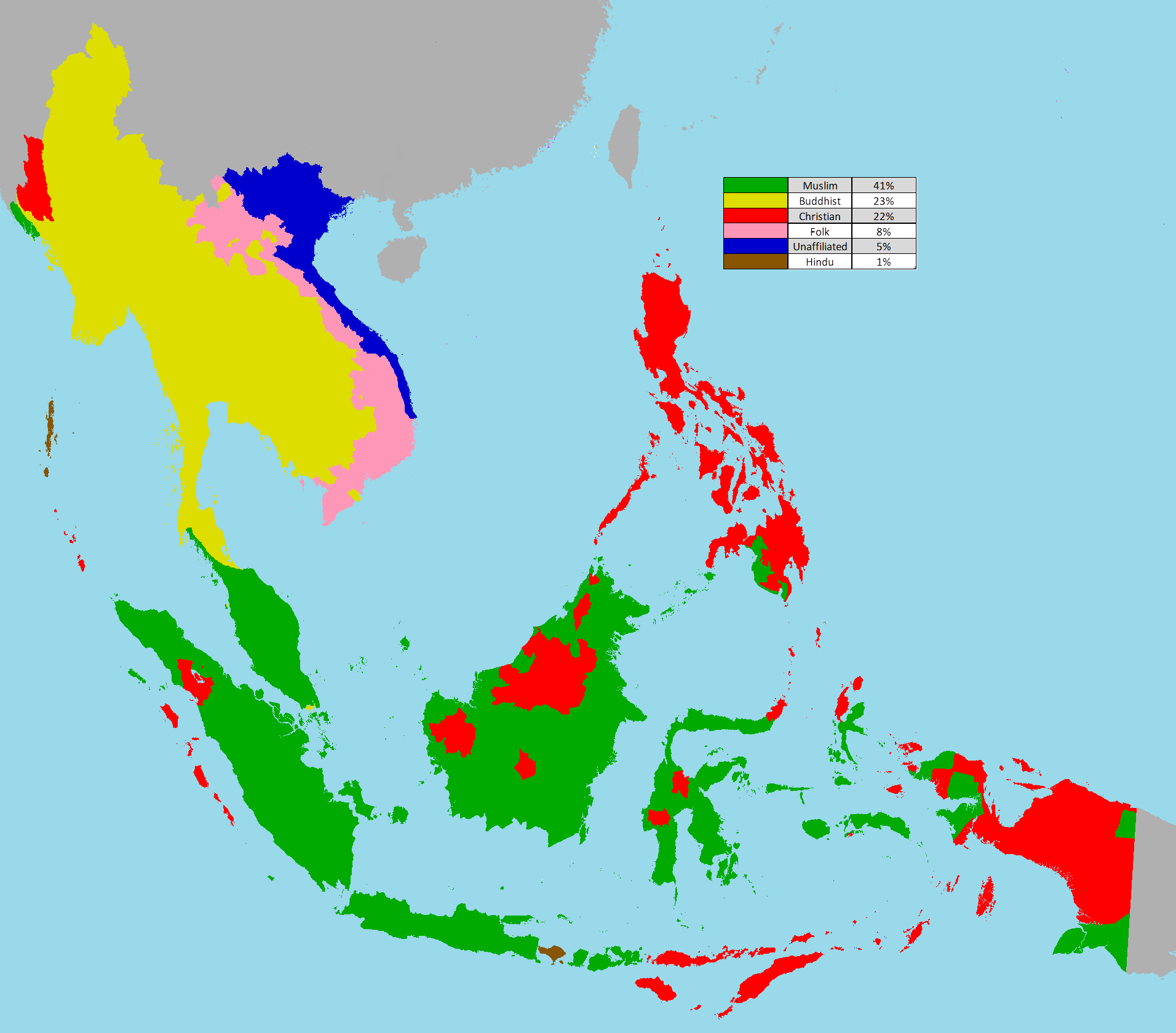 Religion Map Of South Asia.Religion In South East Asia Maps Geography History Politics
