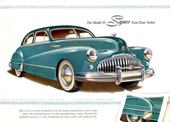 Buick Eight Model 51 Super 4 Door Sedan 1946   Sedans and Cars