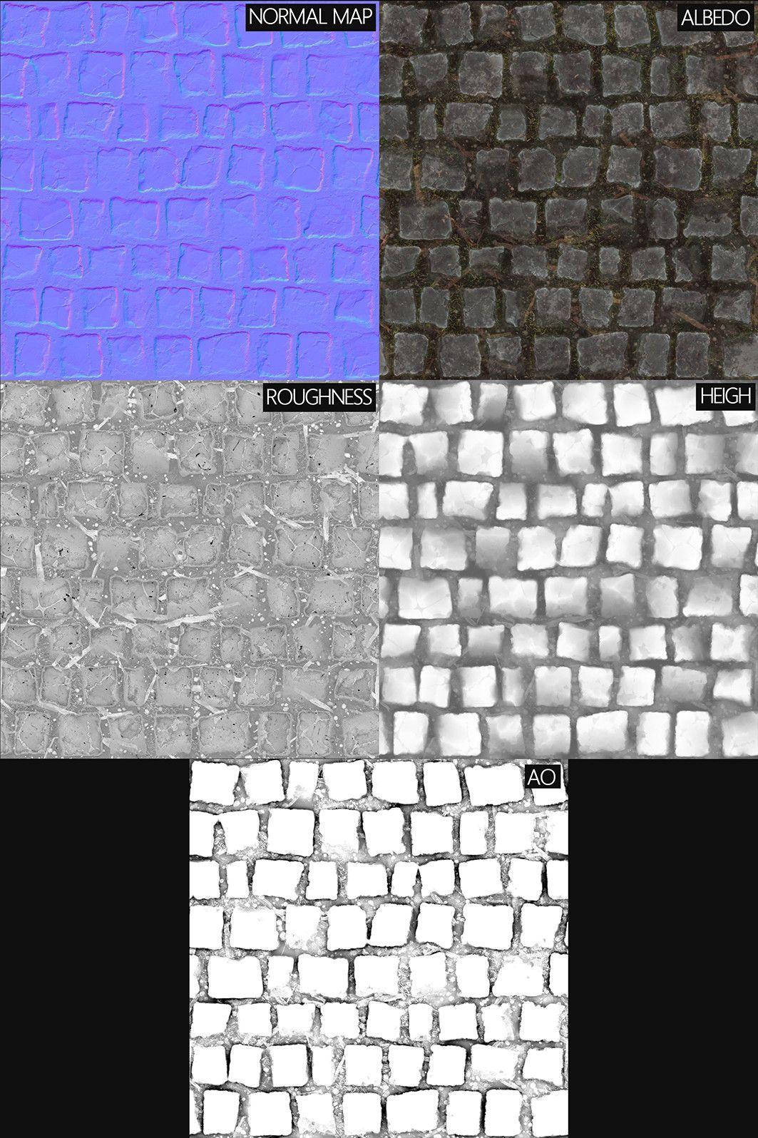 ArtStation - Cobble Stone_Substance Designer, Romain Pommier