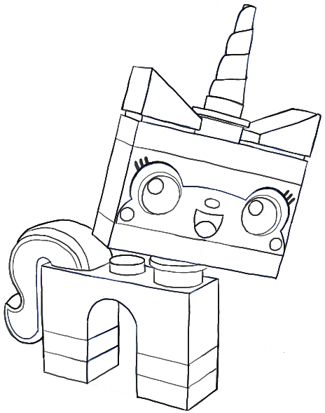 How to Draw Unikitty Minifigure from The Lego Movie in