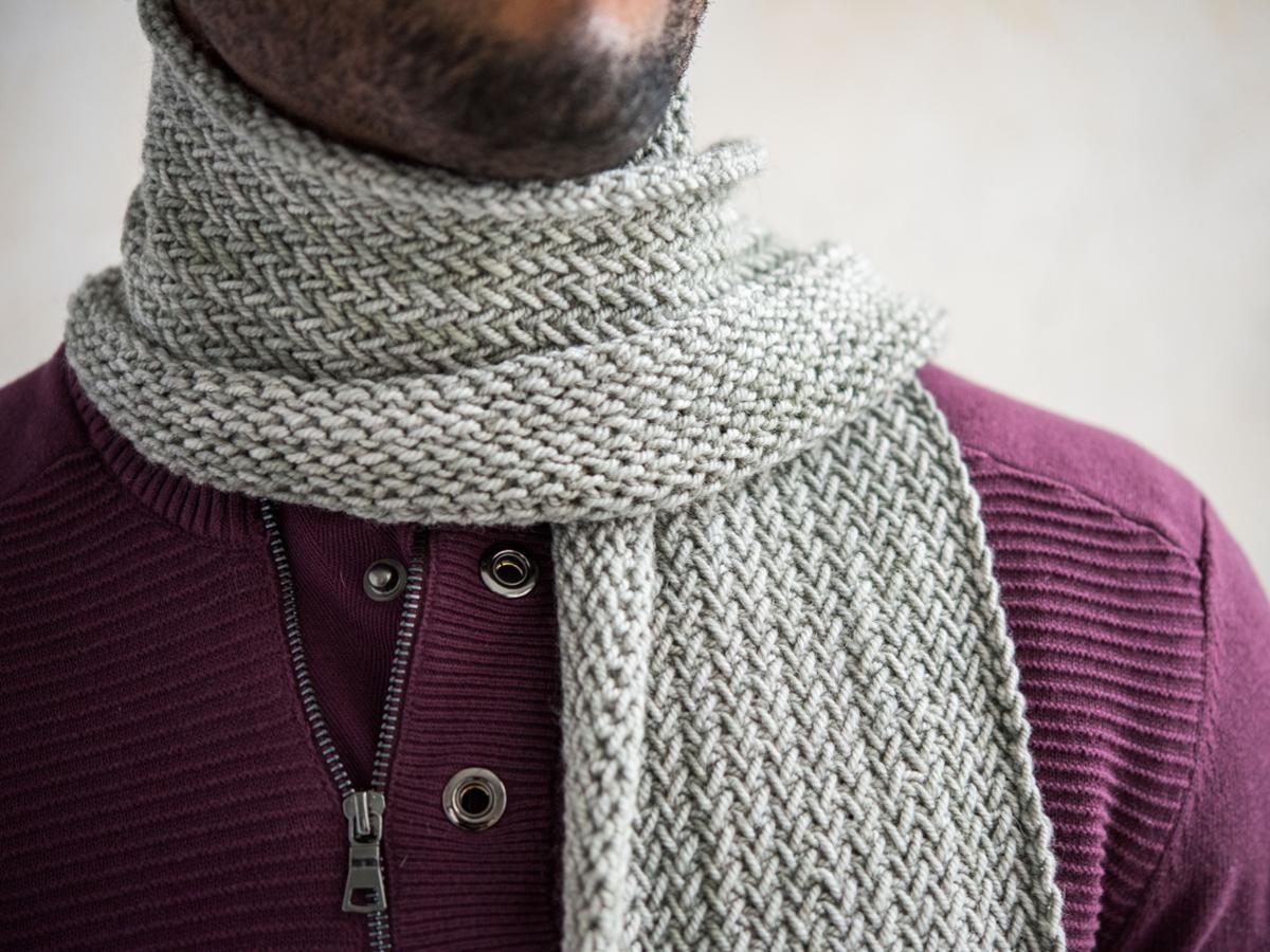 Horizontal Herringbone Scarf Knitting Kit   Herringbone stitch ...
