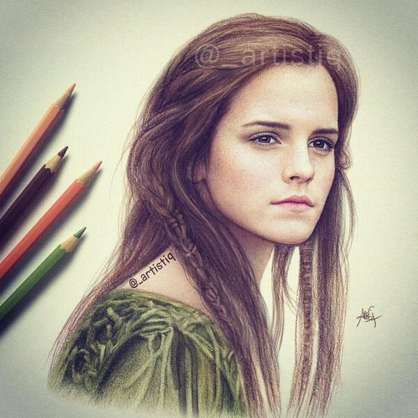 Emma watson by artistiq on twitter this looks exactly like her the detail in this drawing is amazing draw pinterest emma watson drawings and