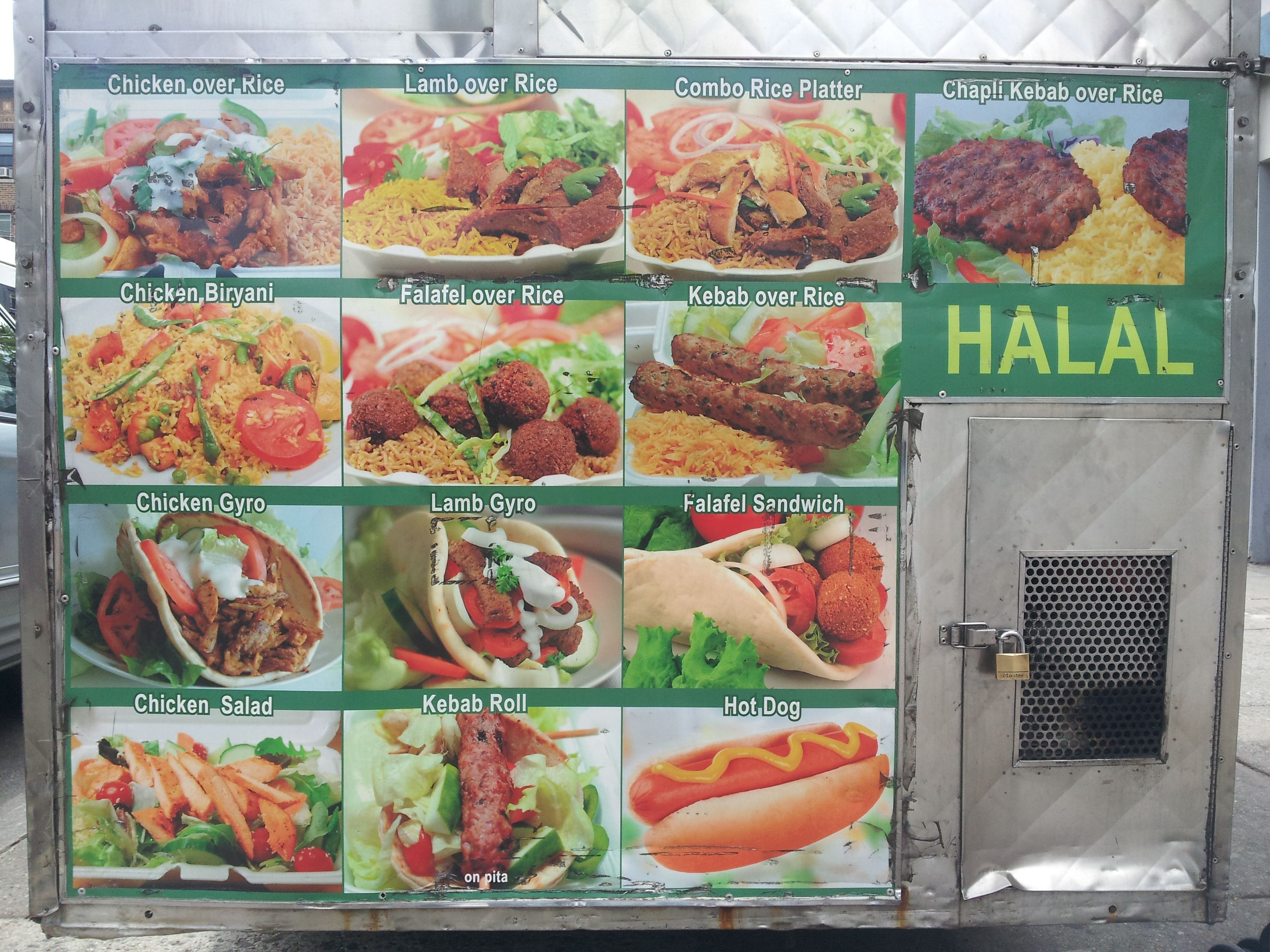 Bahktar Halal Cart Menu Photos Jpg 3264 2448 Lamb Gyros Halal Halal Recipes