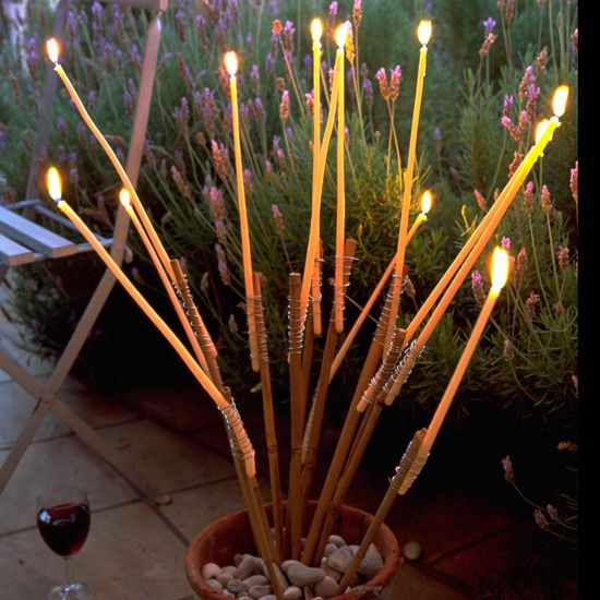Taper Candles Add Ambience ~DIY