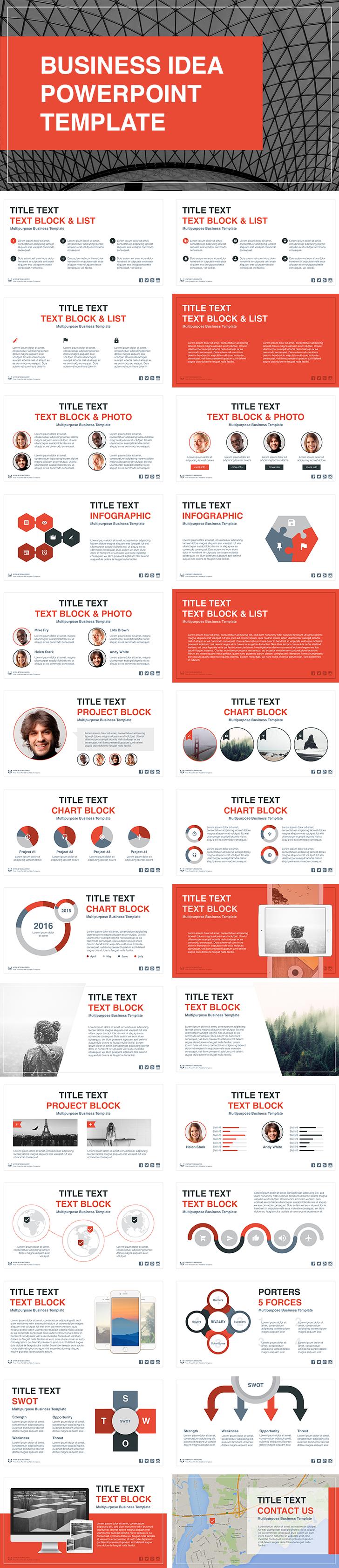 business idea free powerpoint template work pinterest