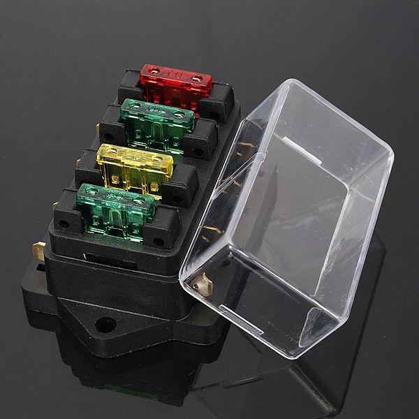 12 24v fuse holder box 4 way car vehicle circuit automotive blade rh pinterest co uk