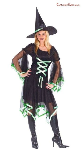 Ribbon Witch Costume Plus Size at Costumes4Less Costumes I - halloween costume ideas plus size