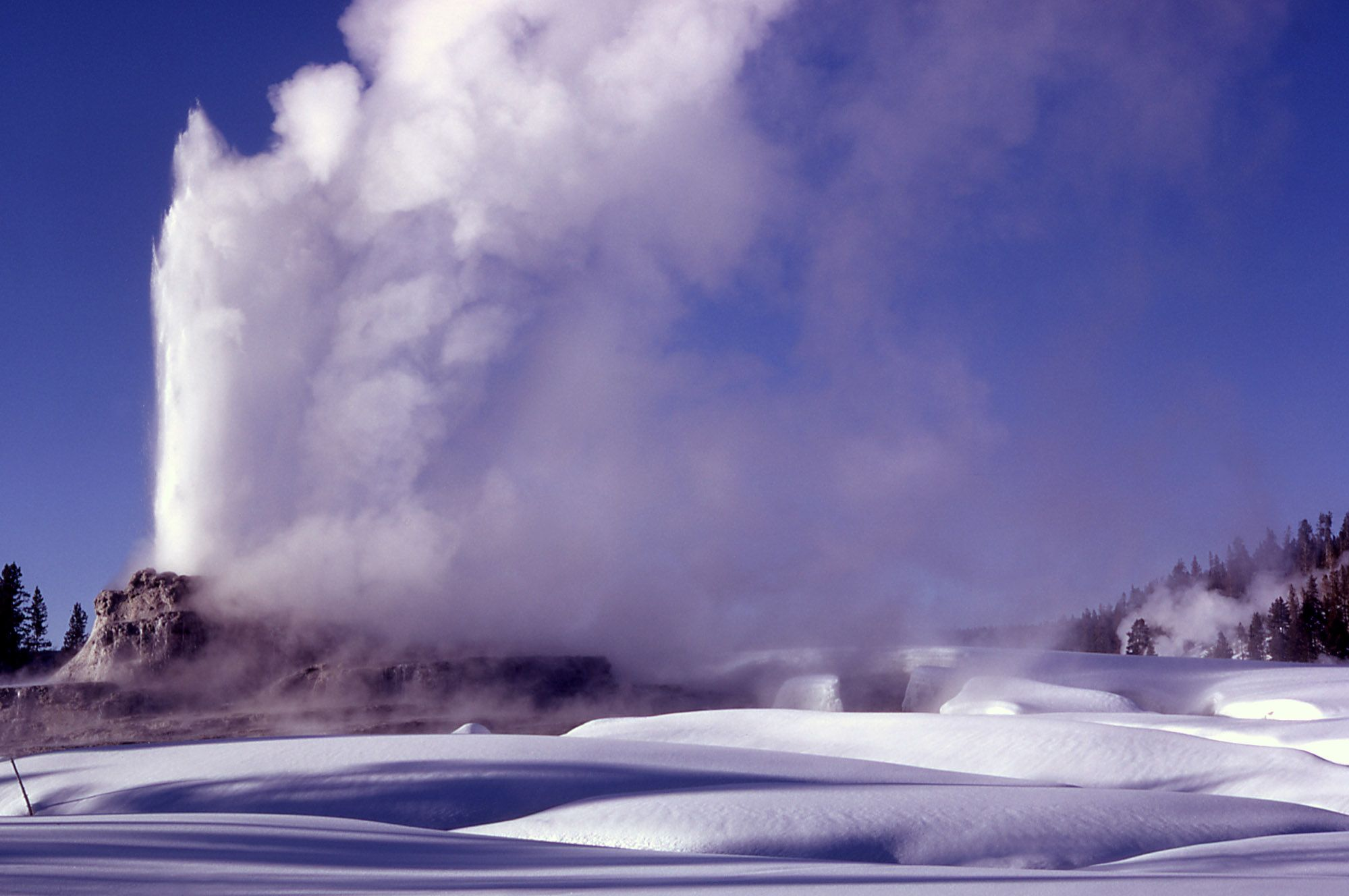 Castle Geyser in winter | Visit yellowstone, Winter ...