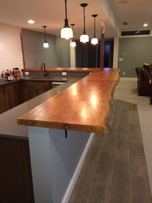 Custom Live Edge Bar Top Live Edge Bar Kitchen Bar Design Outdoor Kitchen Countertops