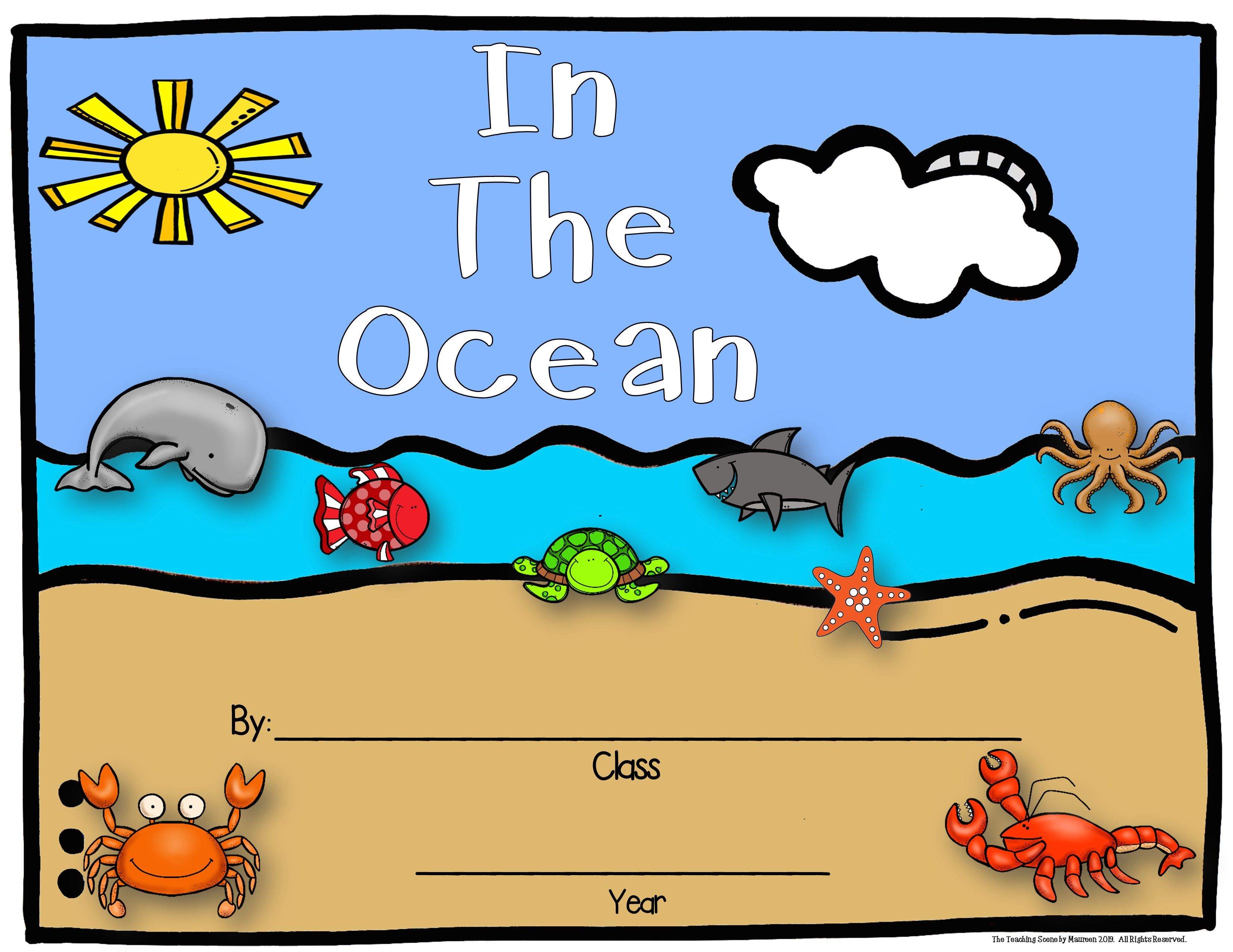 Ocean Themed Student Writing Classroom Books Free
