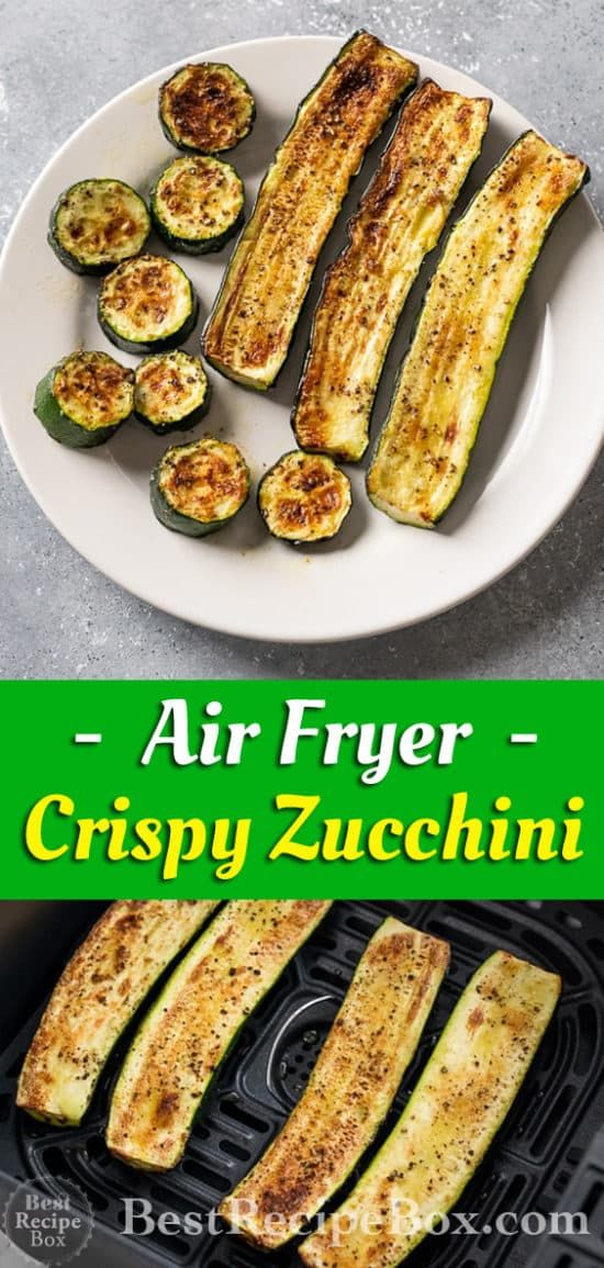 Photo of Air Fryer Zucchini Recipe with Garlic that's Healthy   Best Recipe Box