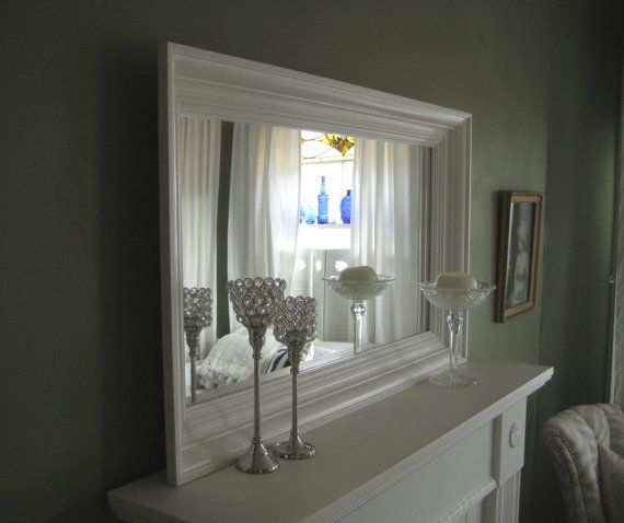 frame a mirror with molding mirror white architectural wood molding frame 36 by robertmarshall - Mirror Frame Molding