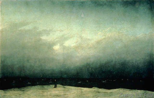 Caspar David Friedrich - Monk by sea, 1809