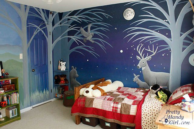 Camping Themed Boy's Room