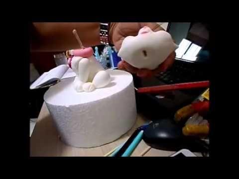 topo de bolo gatinha Marie. - YouTube