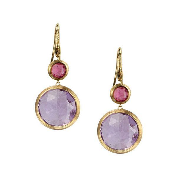 57133b08c021 Marco Bicego Jaipur Large Amethyst   Tourmaline Double Drop Earrings  ( 1