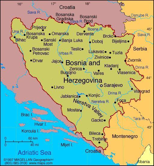 Map Of Bosnia And Herzegovina Capital Sarajevo This - Where is sarajevo