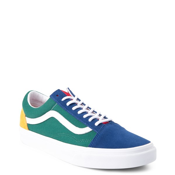 Vans Old Skool Skate Shoe Blue Green Yellow