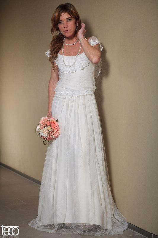 vestido del tocador vintage, por marisa de la fuente. | vestidos