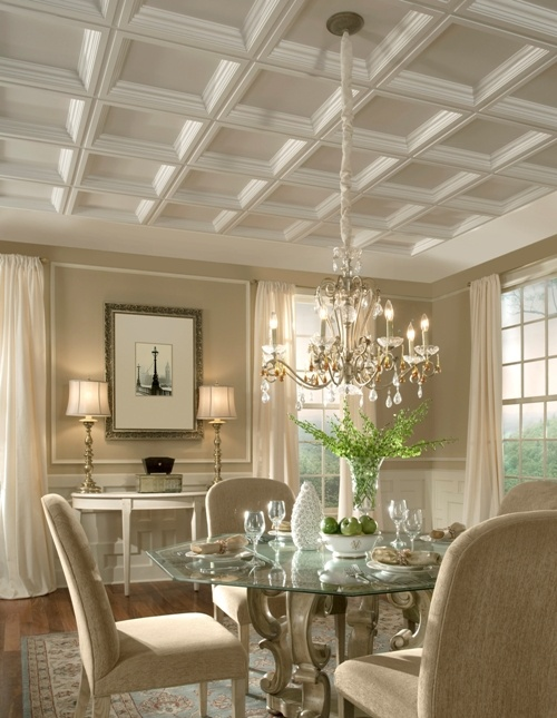 A Coffered Ceiling Is A Ceiling With A Wide Grid Of Sunken Panels Stunning Coffered Ceiling Dining Room Review