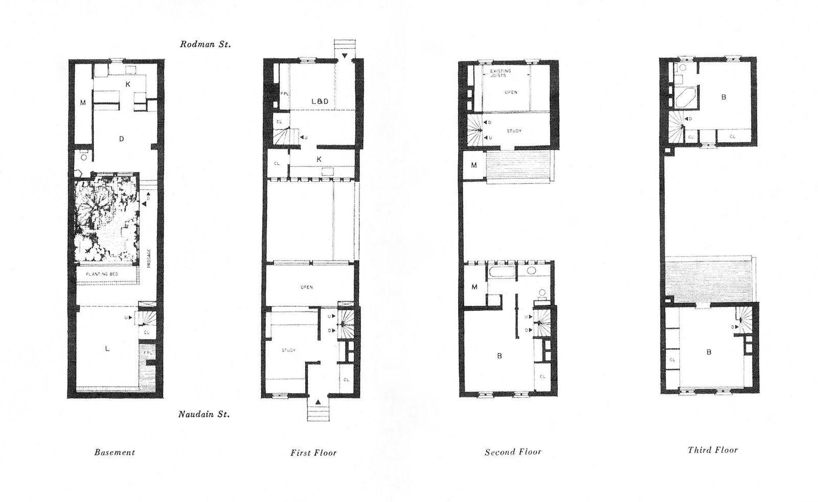 Row House Floor Plans Philadelphia