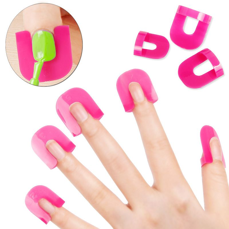 26 Unids/set Plástico Francés Nail Art Stickers Tips Manicura Dedo ...
