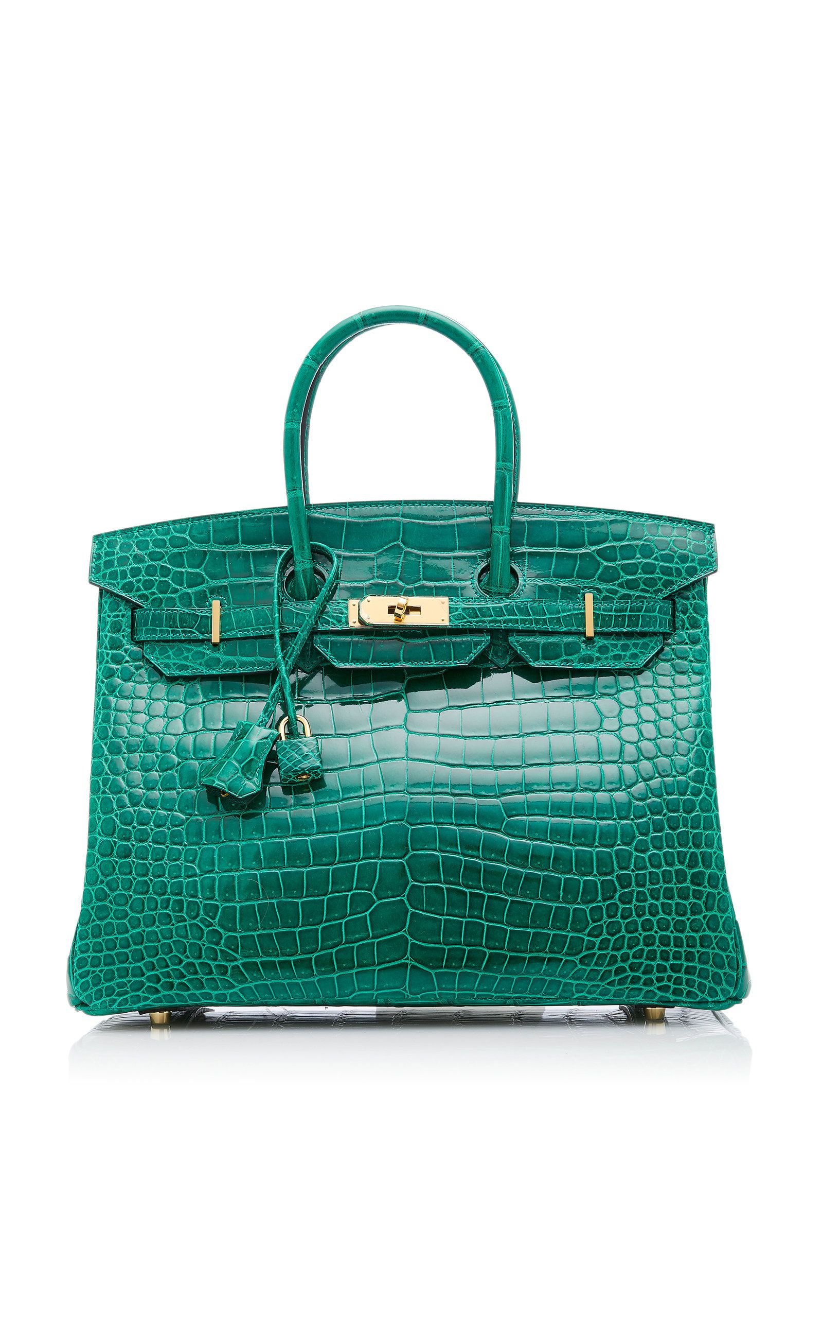 14a05071777d Hermès 35cm Vert Emerald Crocodile Birkin by HERMÈS VINTAGE BY HERITAGE  AUCTIONS for Preorder on Moda Operandi