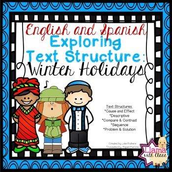 Exploring text structure with winter holidays english spanish exploring text structure with winter holidays english spanish edition stopboris Gallery